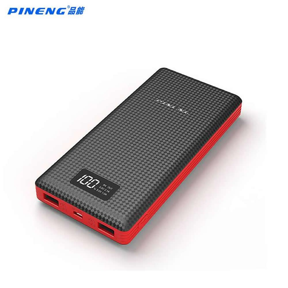 Original Pineng Power Bank 20000mAh PN969 External Battery Pack Powerbank 5V 2.1A Dual USB Output for Android Phones Tablets