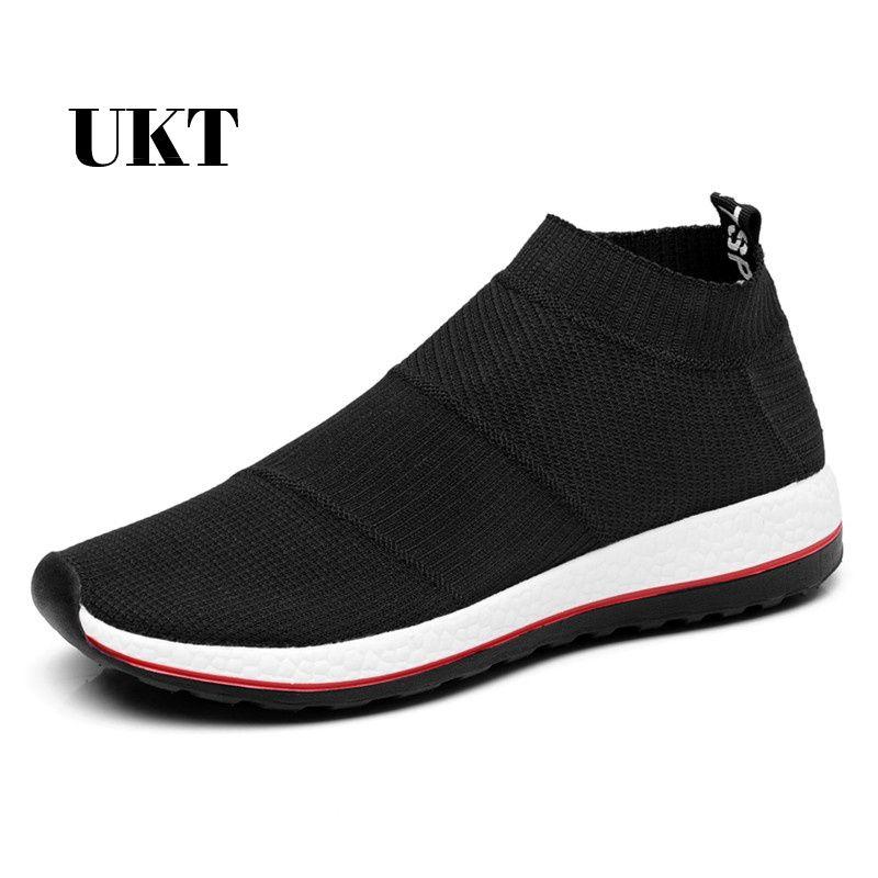 Offre spéciale chaussures de course pour hommes femmes baskets sport sneaker pas cher léger Runing respirant sans lacet maille (Air Mesh) large (C, D, W)