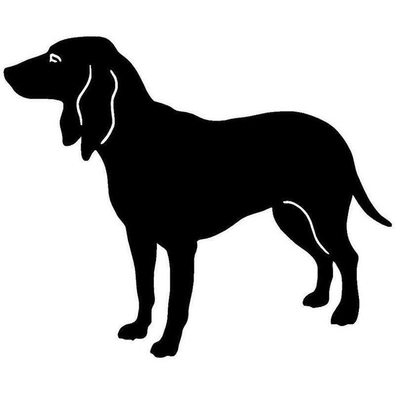 15.2*12.7CM Swiss Hounds Cool Dog Car Stickers Waterproof Vinyl Decal Car Styling Truck Accessories Black/Silver S1-0965