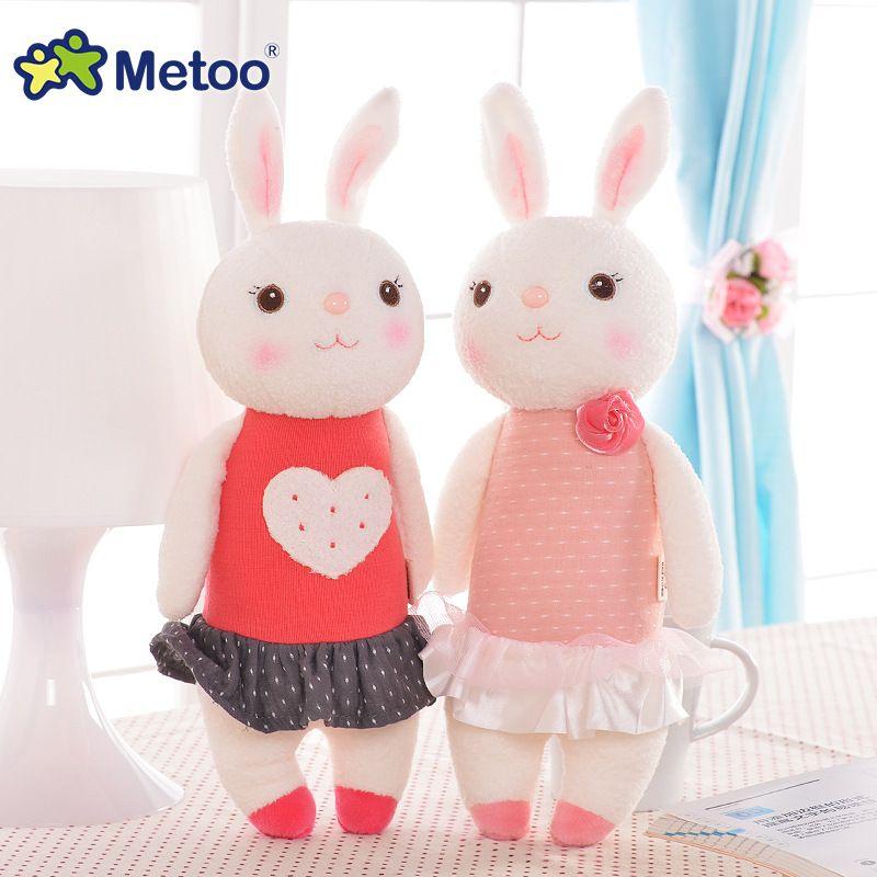 Peluche douce mignon belle peluche bébé enfants jouets pour filles anniversaire cadeau de noël 11 pouces Tiramitu lapins Mini Metoo poupée