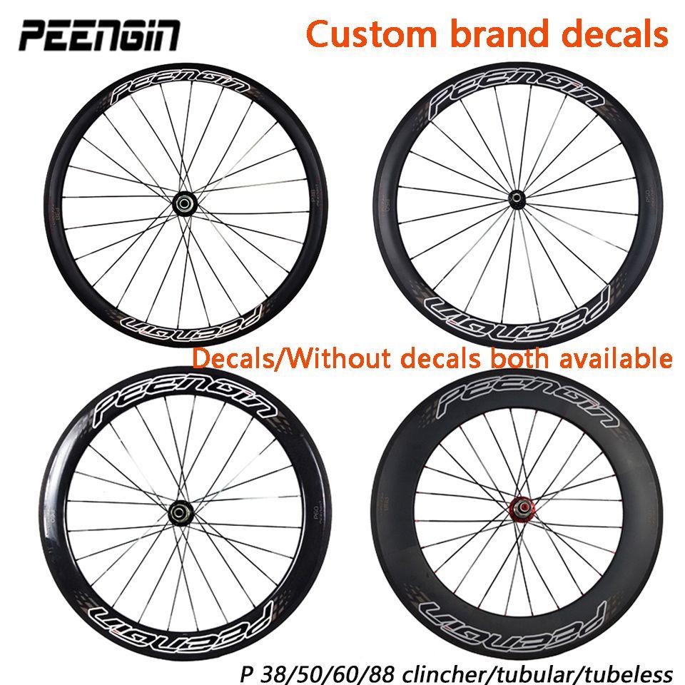 carbon wheels 38 50 60 88mm 23/25mm Clincher/Tubular/tubeless NOVATEC/POWERWAY R13 hub 700C bike wheelset carbon bicycle wheels