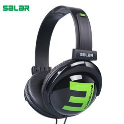 Salar Big E 3.5mm Wired Gaming Headphones Adjustable Foldable Headset Over Ear Stereo Deep Bass for Phone Tablets Computer