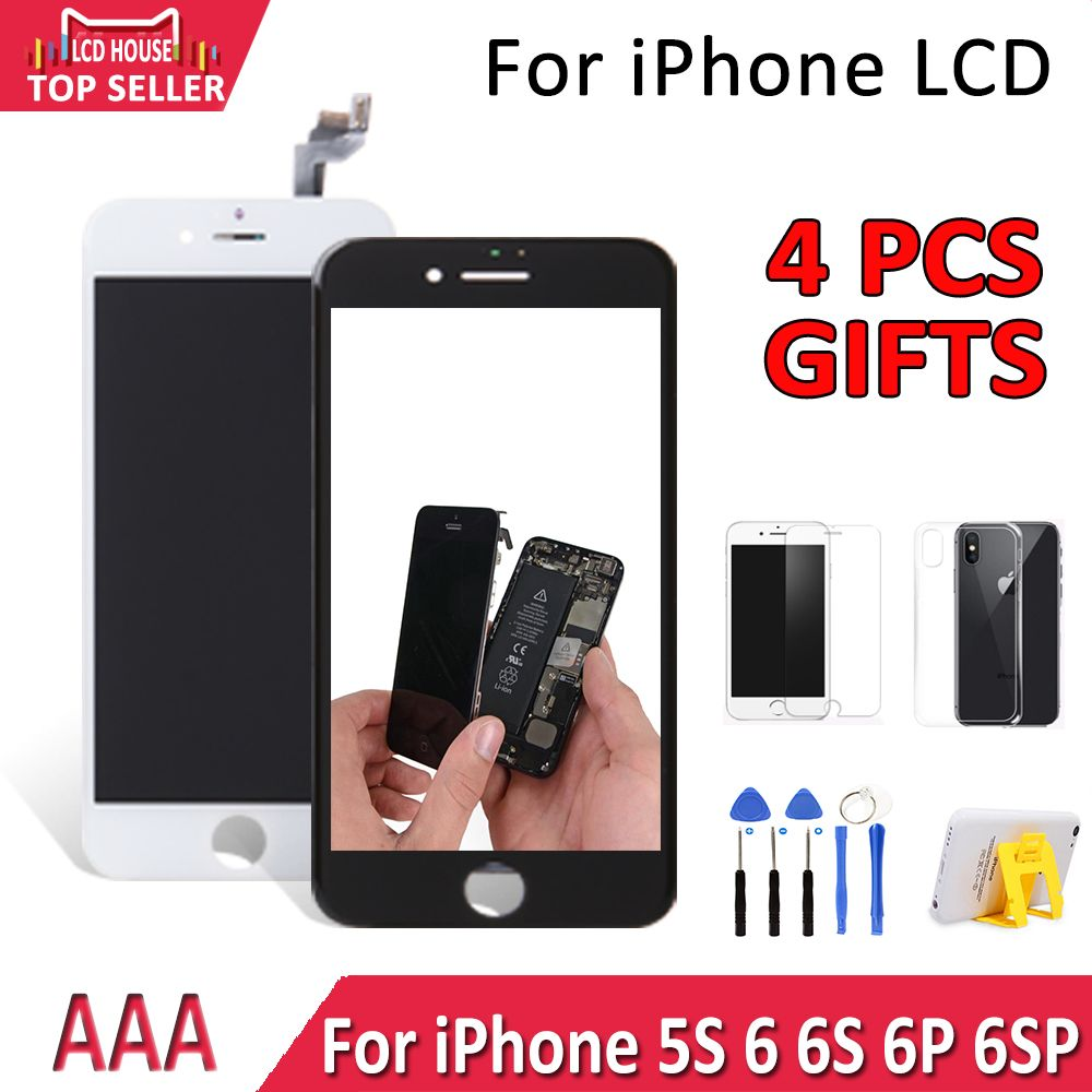 No.1 AAA LCD Screen For iPhone 6 6S Display Touch Screen With Digitizer Replacement Assembly Repair Parts For 5S 6 6S Plus LCD