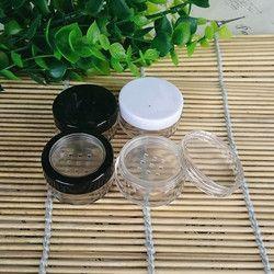 2g Kosong Jar Plastik Kecil Bubuk Kompak/Kasus dengan grid ayak Seal Mini Kemasan Kosmetik Isi Ulang Bottle10/20/50/70 pcs/lot