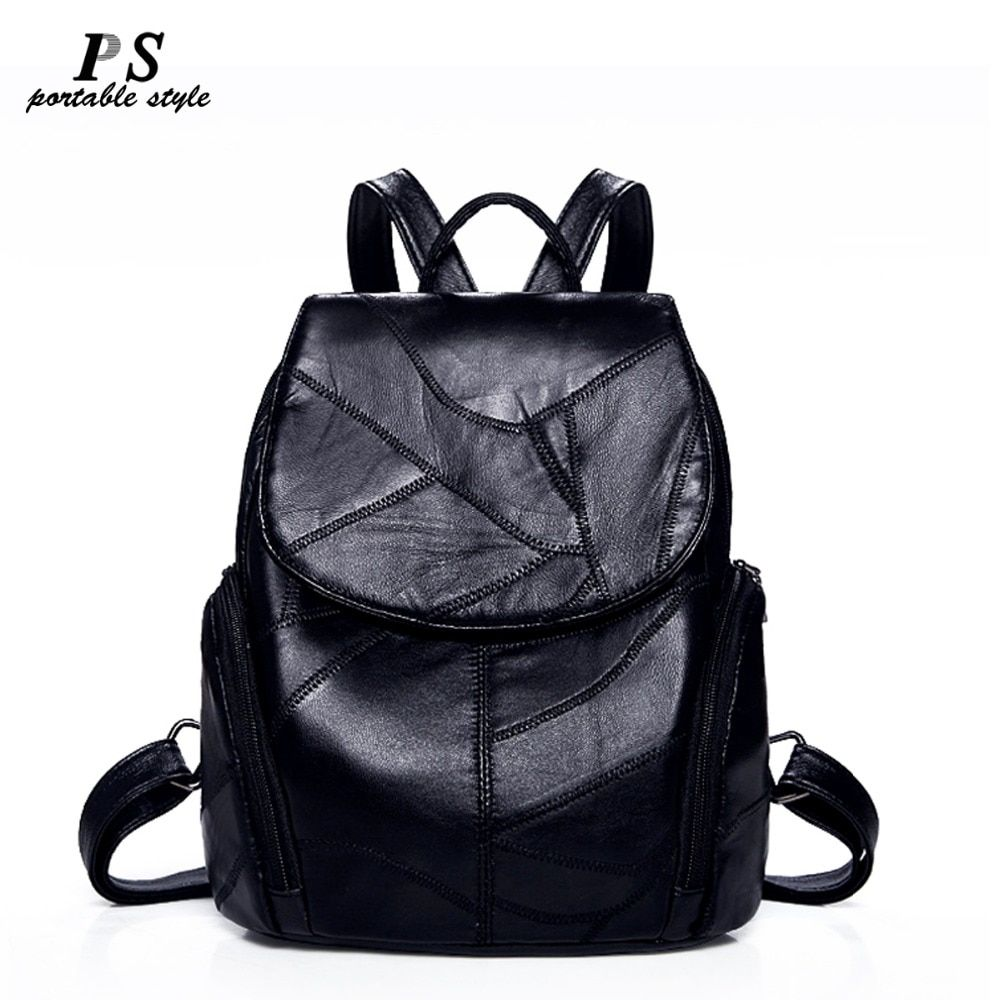 Women Backpack Geniune Leather Backpack Women 2018 fashion Hotsale School Bags for Teenagers Fashion Backpacks for Teenage Girls