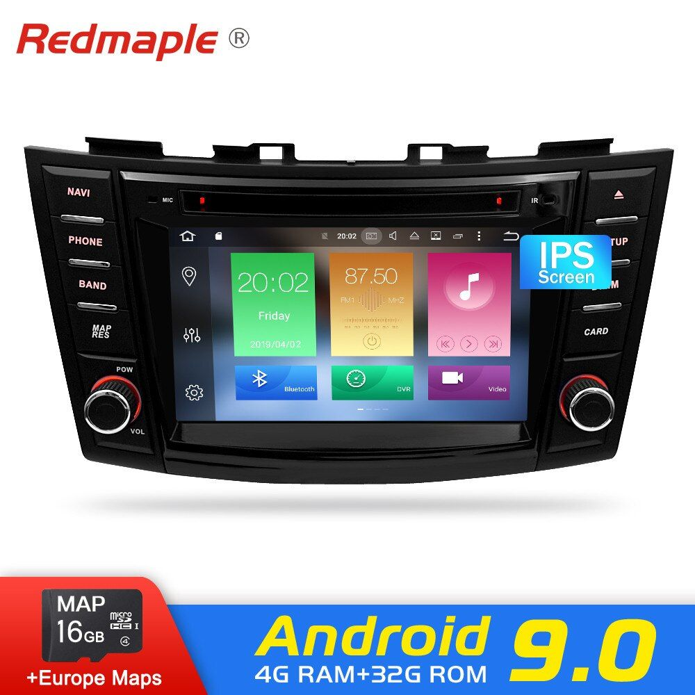 Android 9.0 Auto Radio GPS-Player Für Suzuki Swift 2012 2013 2014 2015 2016 Auto DVD Navigation Multimedia Bluetooth Video Stereo