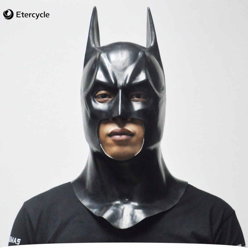 Batman masques adulte Halloween masque visage complet Latex Caretas film Bruce Wayne Cosplay jouet accessoires