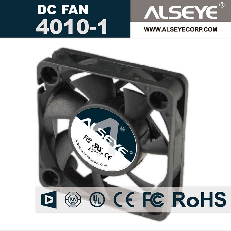 ALSEYE 4010 DC Cooling Fan, 12v 7000RPM 40mm Fan Radiator, Hydraulic Bearing Cooling Fan Cooler 40 x 40 x 10mm