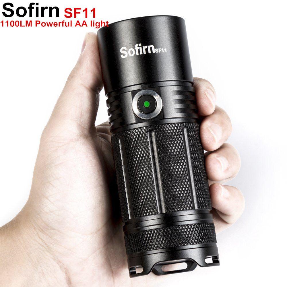 Sofirn SF11 puissant lampe de poche LED torche tactique AA Cree XPL 1100lm LED haute puissance lumière lampe indicateur puissance 6 Modes Camping