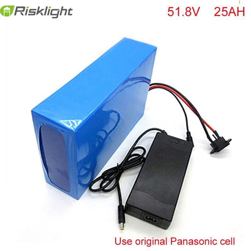 Ebike batterie 51,8 v 25ah fahrrad lithium-ionen batterie 52 v 1500 watt elektrische roller batterie für kit elektrische fahrrad für Panasonic zelle