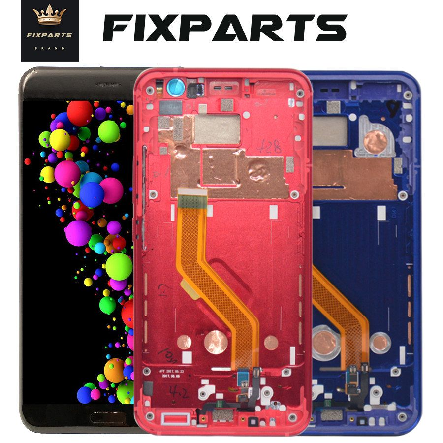 100% Tested For HTC U11 LCD Display Touch Screen Digitizer Assembly Replacement Parts 2560*1440 For 5.5
