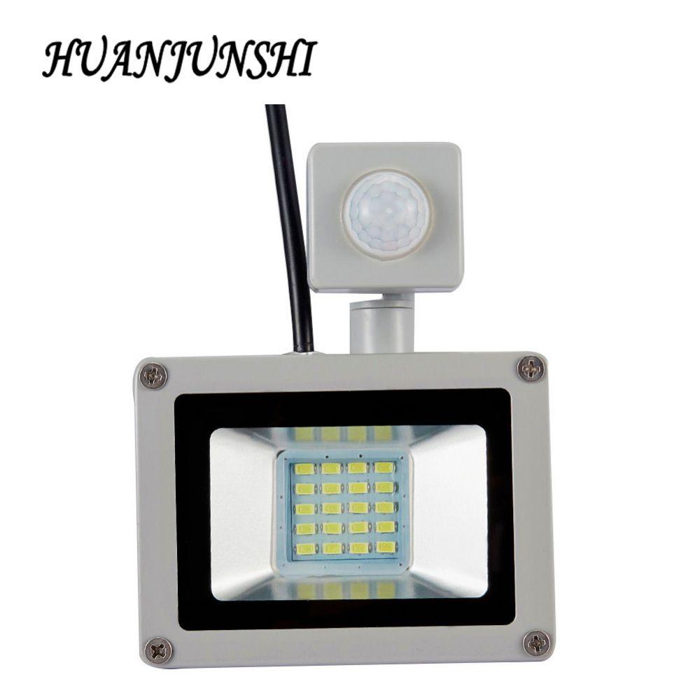 LED PIR détecteur de mouvement projecteur réglable 10W20W étanche IP65 220V projecteur jardin spot extérieur applique spot