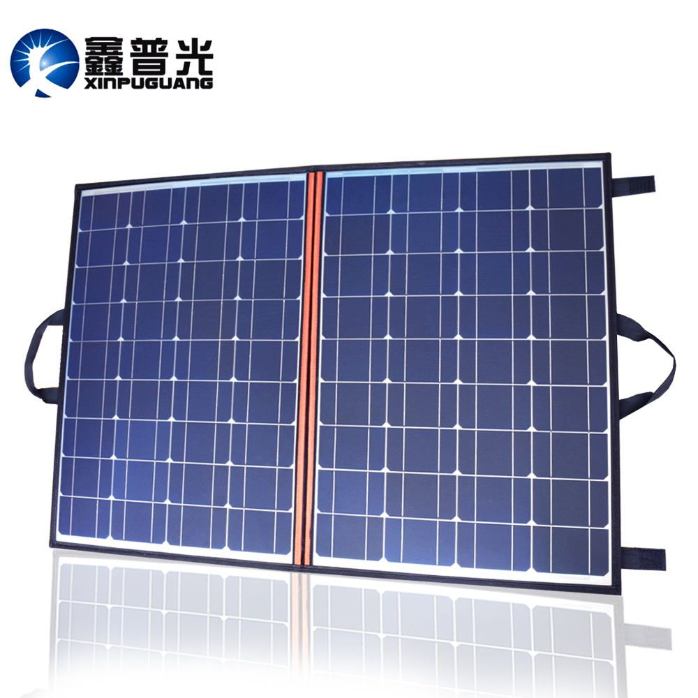 100w 110w solar panel foldable Portable charger 12v/24v 10A controller for 12v battery power bank DC outdoor solar blanket