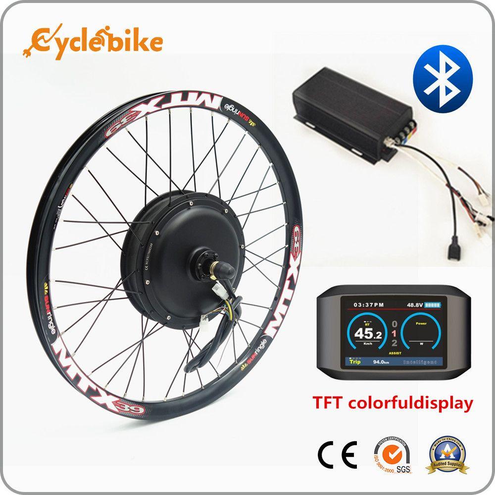 Bluetooth! Große power 72 v 3000 watt elektrische bike kit 3kw ebike conversion kit mit TFT bunte display
