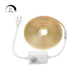 AIMENGTE супер яркий SMD2835 затемнения 220 V Светодиодные ленты света 1 M/5 M/10 M/15 M/20 M/25 M Кухня открытый сад лампы лента с ЕС Plug