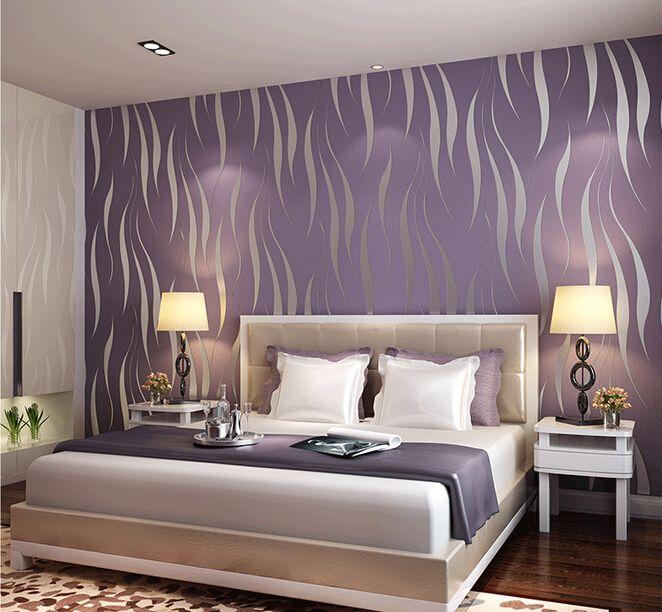 Non woven wallpaper 3D desktop Wallpaper Roll Modern Simple Style Surface Striped Nonwoven wall paper papel de parede 0.53m*10m