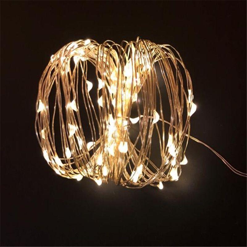 Solaire Jeu de Lumières 5 m 50 LED Fil De Cuivre Cordes Guirlande lumineuse Étanche Lumières De Noël Solaire Puissance Lampe Pour Jardin Décoration