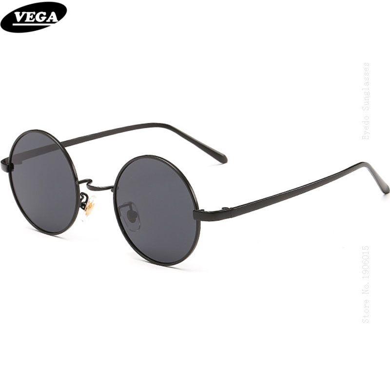 VEGA bon cercle Antique lunettes de soleil polarisées 80 s 90 s Hippie lunettes de soleil pour Hip Hop HD Vision circulaire Vintage lunettes 8045