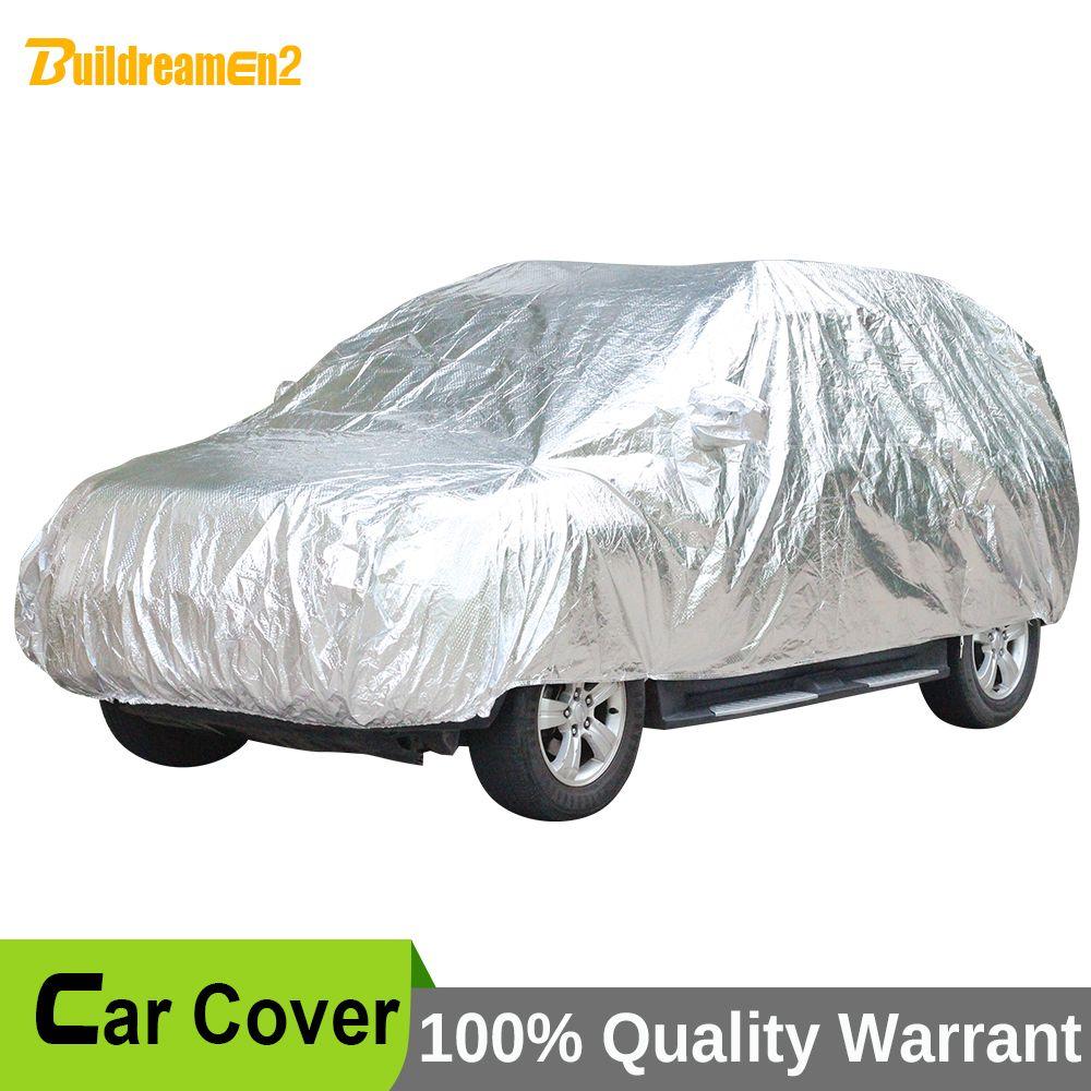 Buildreamen2 Waterproof Car Cover Thicken Case Sunshade Car Anti-UV Sun Rain Snow Hail Resistant Protective Cover Dustproof