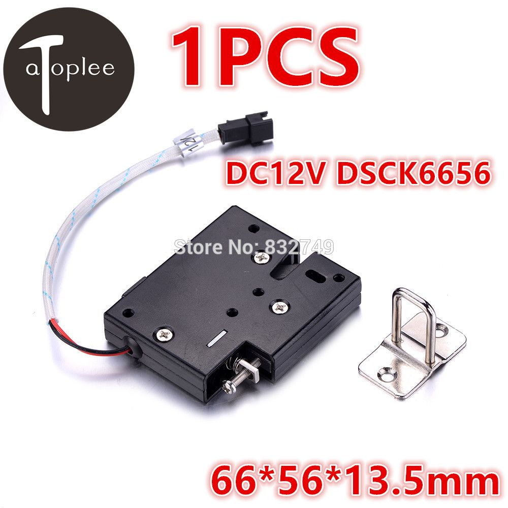 Atoplee 1PCS DC12V DSCK6656 Electromagnetic Lock Energy-Saving Long-Life Electronic Locks For Cabient Door Furniture Tools
