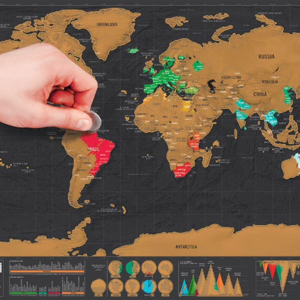 1 шт. deluxe Географические карты персонализированные мира Географические карты мини scratchable Фольга Слои покрытие плакат 82.5x59.5 cm Новый стиль