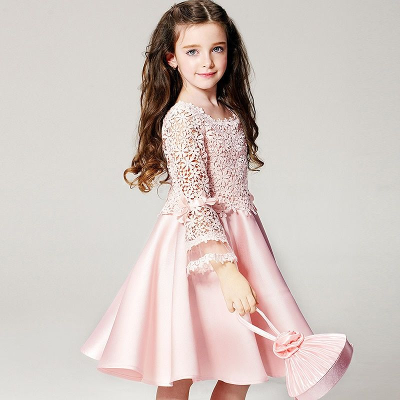 Dresses For Girls High Quality Children Dress Long Sleeve Kids Clothes Summer Dress Flower Girls Dresses For Party And Wedding