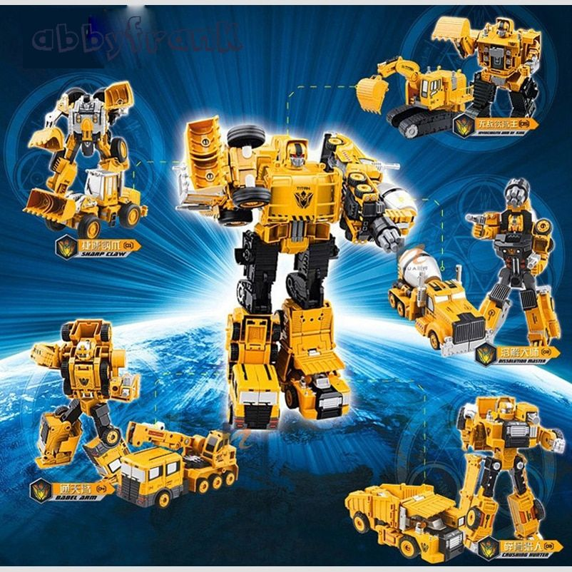Engineering Transportation Car Transformation Toy 2 in 1 Metal Alloy Construction Vehicle Truck Assembly Excavator Oyuncak