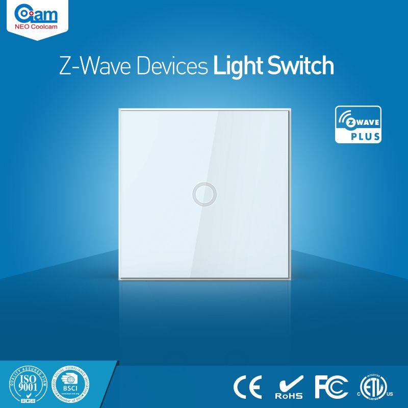 NEO Coolcam Maison Intelligente Z-Vague Plus 1CH L'UE Lumière Commutateur Compatible avec Z-vague 300 série et 500 série Domotique