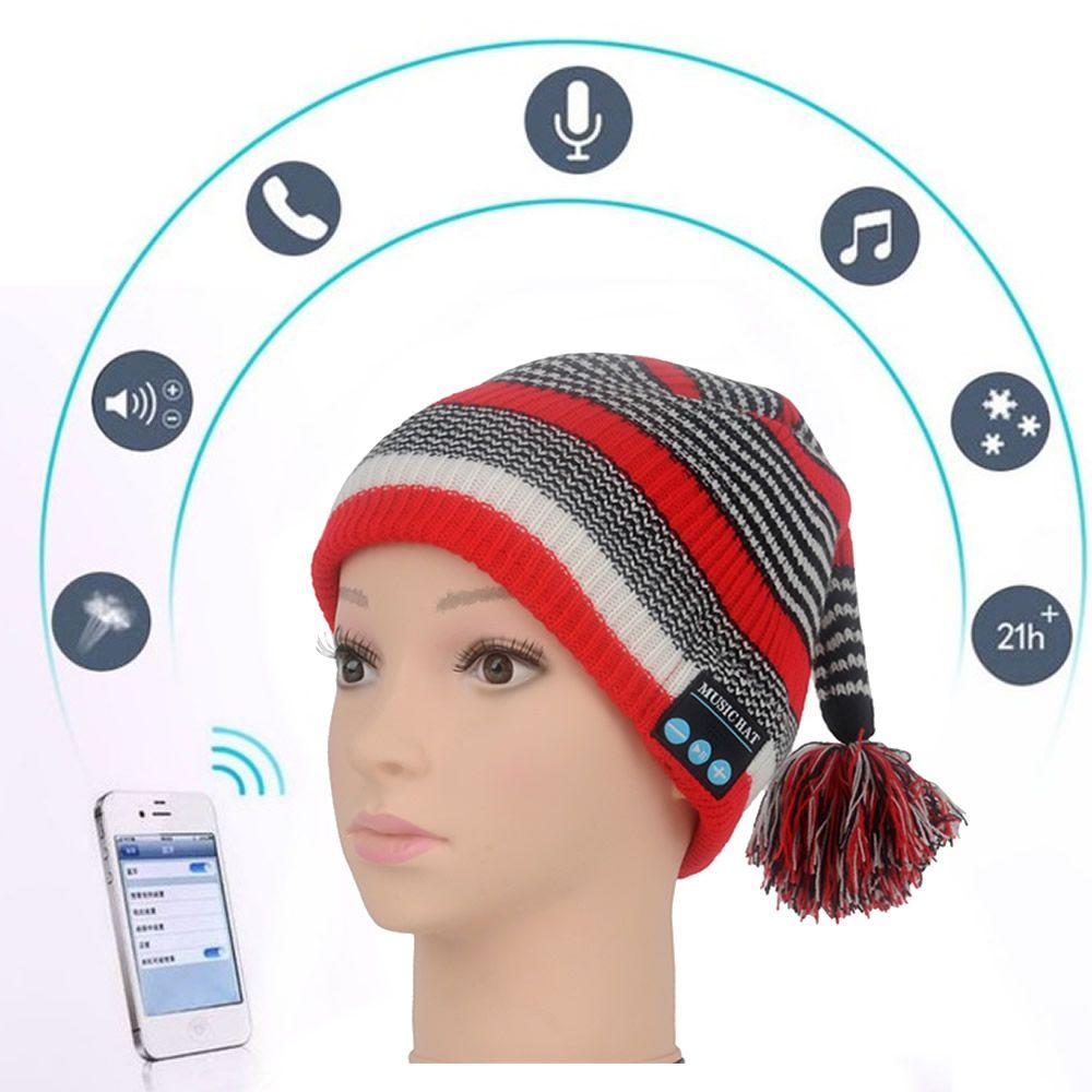 Bluetooth музыка шляпа мягкая теплая шапочка шапки с стерео наушники гарнитура Динамик Беспроводной микрофон mz022 для Android-смартфон