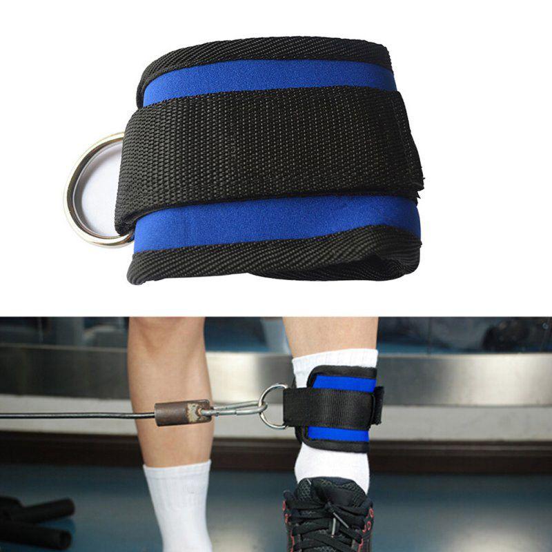 D-образное кольцо лодыжки Якорь ремень Мульти спортзал крепления кабеля бедра ноги шкив ремень подъема Фитнес упражнения тренажеры
