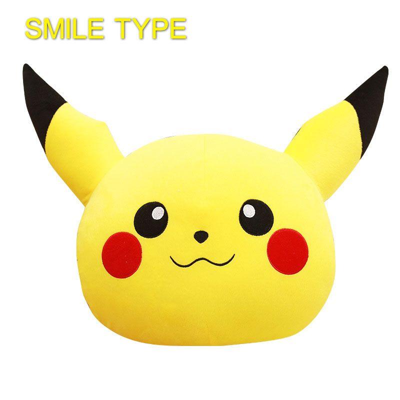33*36 cm Pikachu Coussin Rire Smiley Visage smileys Voyage emoji Oreiller belle Pokemon Go Peluche Tissu Jouet de Bande Dessinée accueil Textile
