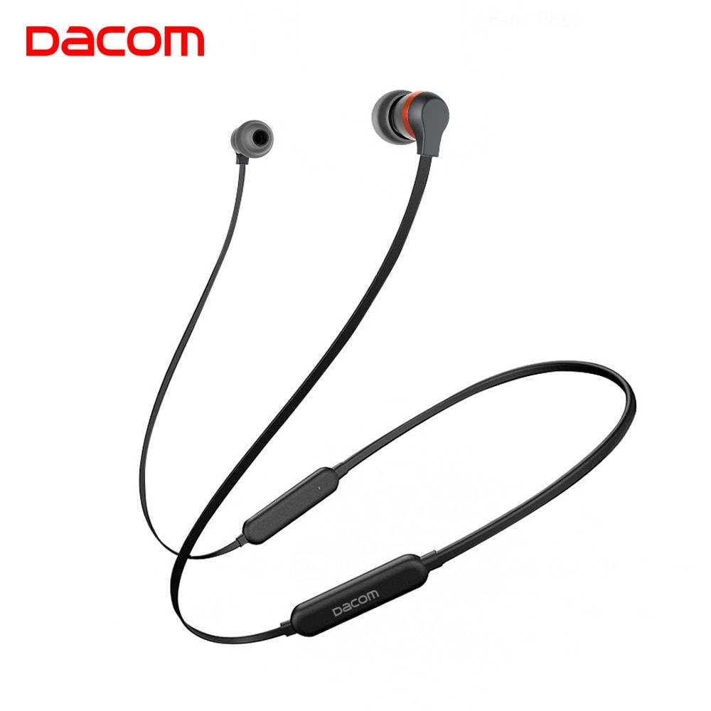Dacom L06 Wireless Headphones Bluetooth Earphone Sports Stereo Bass in-Ear Earbuds Neckband Earphones Headset with Mic for Phone