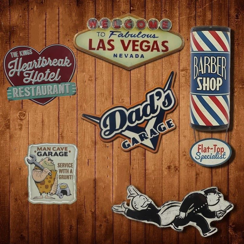 Irrégulier USA STYLE ombre Vintage étain signe plaque Bar pub maison café Restaurant décor mural rétro métal Art affiche