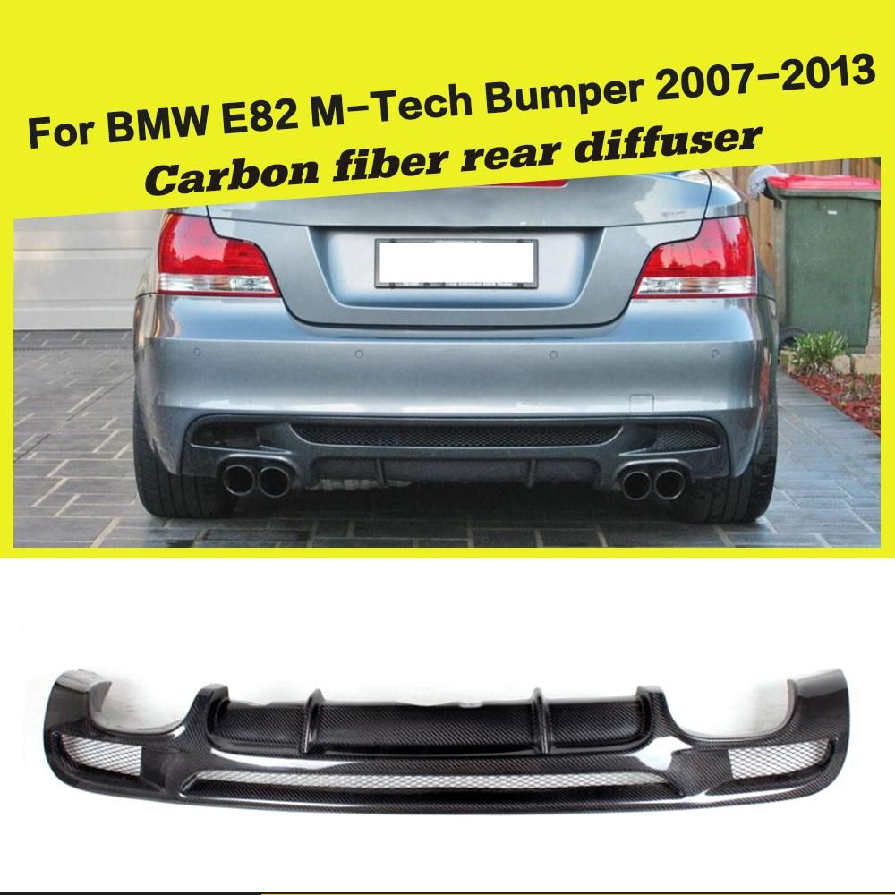 Hinten Stoßstange Diffusor Lip Spoiler für BMW 1Serie E82 E88 128i 135i M Sport 2008-2013 M Tech coupe Cabrio Carbon Faser/FRP