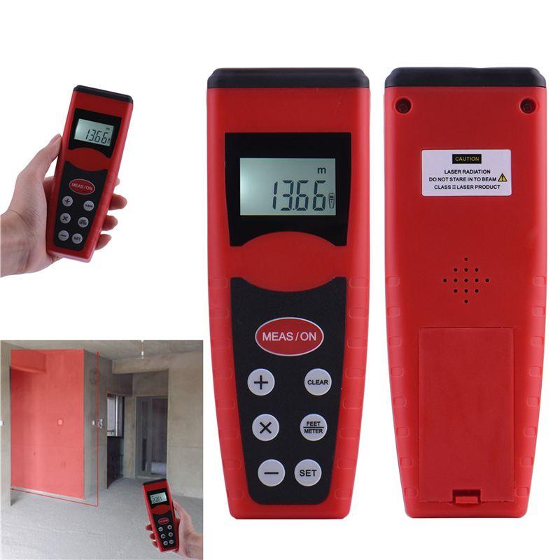 Original Ultrasonic CP3000 Measurer Laser Pointer Range Finder Digital LED Display Measure Tape Laser Distance Meter Rangefinder