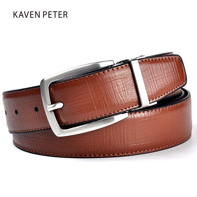 Nouveaux hommes ceinture en cuir de luxe marque Designer célèbre en cuir véritable marque de luxe ceintures marron pantalon hommes en cuir véritable