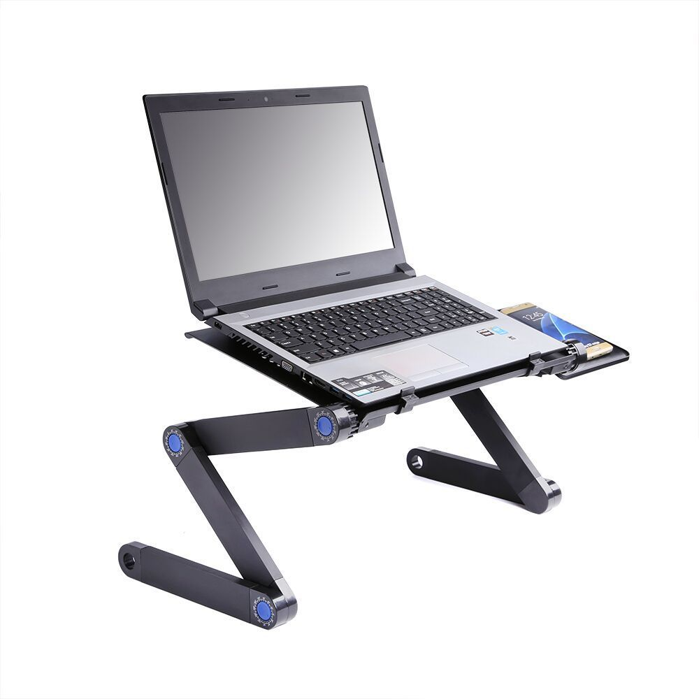 Table d'ordinateur Portable en alliage d'aluminium réglable Portable pliant ordinateur bureau étudiants dortoir table d'ordinateur Portable support plateau pour canapé-lit