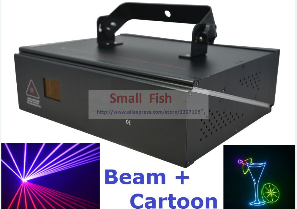 DMX+ILDA+2D Multi Color 1W RGB Beam Animation Laser Light / DJ Lights / Stage Lighting / Laser projector Disco Effect Machine