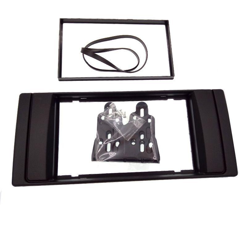 Haute qualité nouveau double 2 DIN Radio Fascia pour BMW X5 (E53) 5 (E39) stéréo facia cadre panneau tableau de bord kit adaptateur garniture lunette