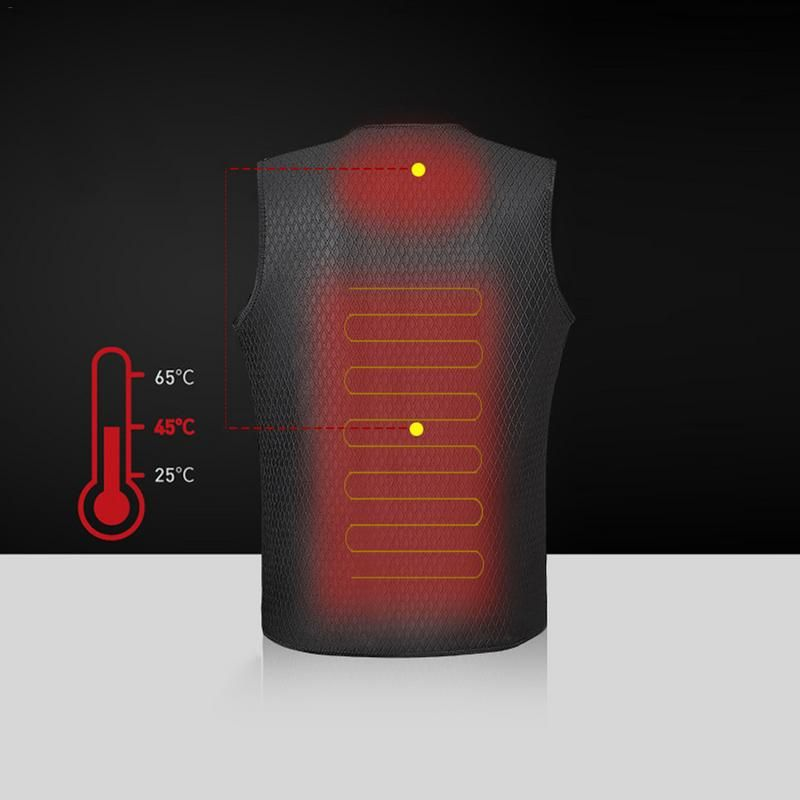 Outdoor Warm Electric Heated Clothing Riding Skiing Fishing USB Charging Electric Heated Vest Outdoor Keep Warm Accessories
