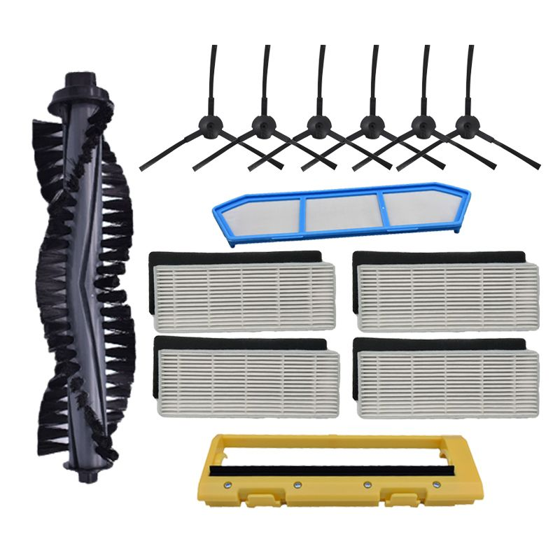 Filter replacements kits for Ilife A4 A4S A40 hepa filter & primary filter & side brush Remote Control Roll Brush Cover
