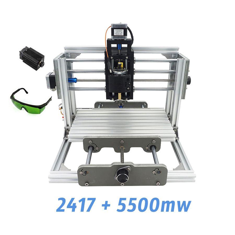 2417+5500mw,diy engraving machine,mini PcbPvc Milling Machine,Metal Wood Carving machine,2417,grbl control