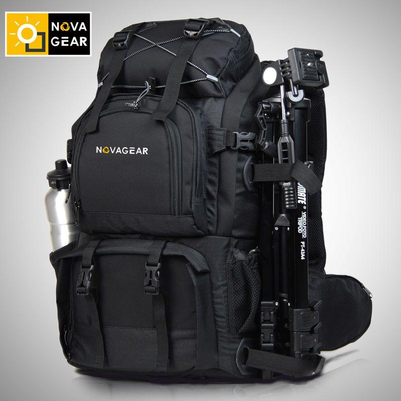 NOVAGEAR 80302 double-shoulder camera bag waterproof shockproof outdoor large capacity SLR camera bag put 17-inch laptop