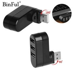 BinFul Drehbare High Speed 3 Port USB HUB 2,0 USB Splitter Adapter für Notebook/Tablet-Computer PC Peripheriegeräte