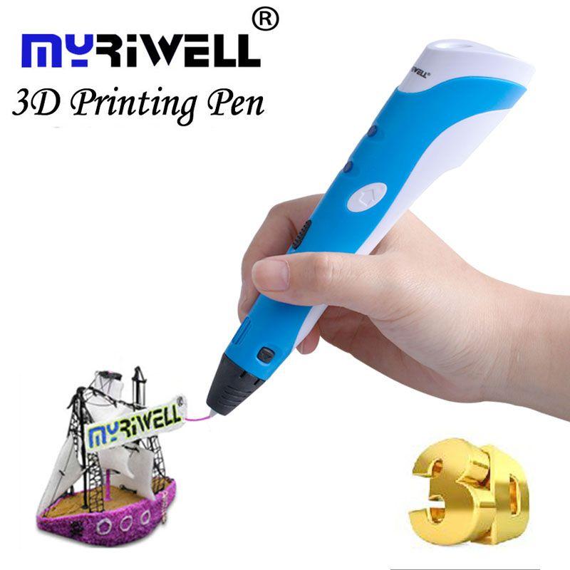 Myriwell 3D Stylo DIY 3D Imprimante Stylo Dessin 3d Impression Stylos avec ABS Filament 1.75mm pour les Enfants De Noël D'anniversaire cadeau