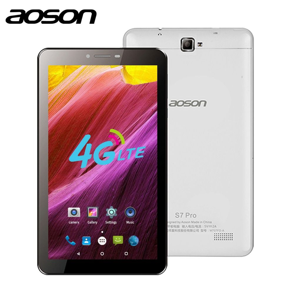 Aoson S7 PRO 7 inch 4G LTE SIM CARD tablet 8GB ROM HD IPS Screen Android 6.0 mobile Phone Call Tablets Quad Core Dual Camera GPS