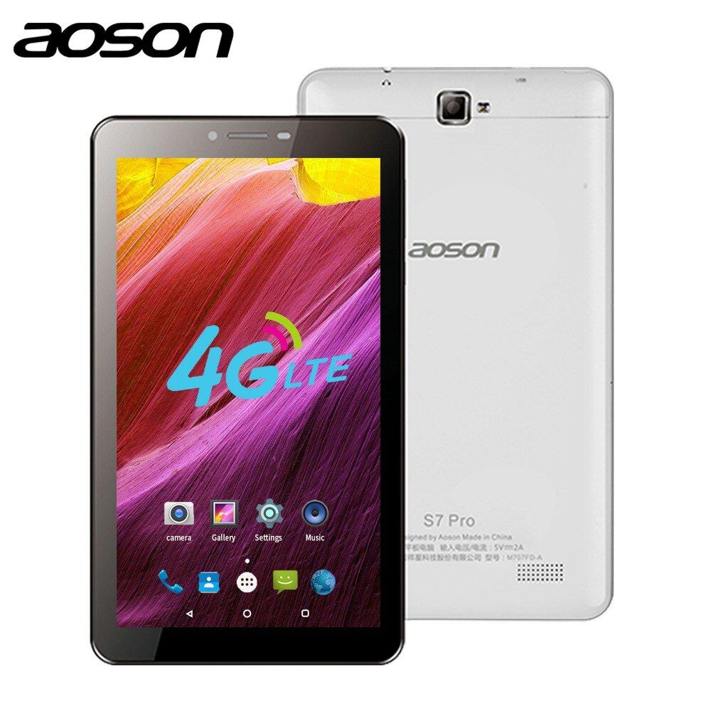Aoson tablet S7 PRO 7 inch 4G tablets android 8GB ROM HD IPS Screen Android 6.0 Phone Call Tablets Quad Core dual sim tablet