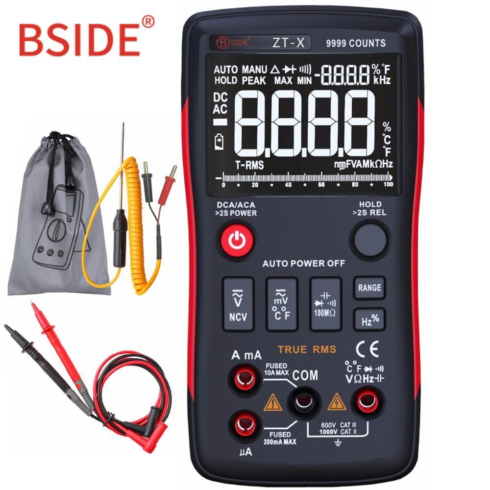 Digital Multimeter BSIDE ZT-X True-RMS 9999 Counts Multimetro DC/AC Voltmeter Ammeter With Analog Bar Graph Same as RM409B