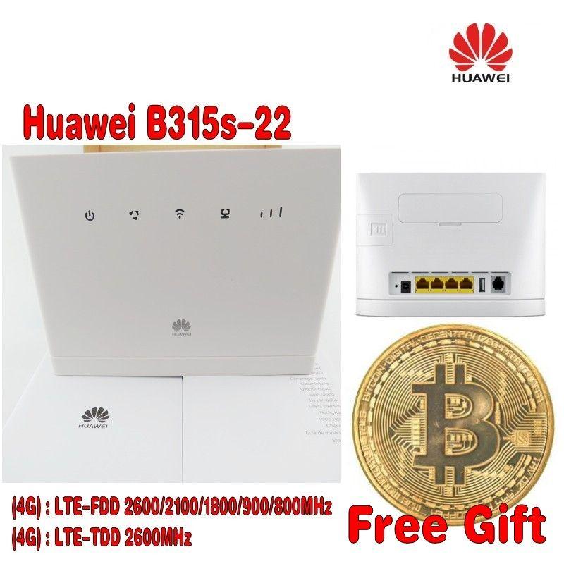 HUAWEI B315s-22 4G LTE 150Mbps FDD TDD Wireless CPE Router Unlocked + Free Gift+2pcs 4g B315 antenna