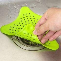 1 шт. креативные Пятиточечные Звездные сливные решетки для кухни фильтры для раковины фильтр для раковины предотвращает засорение трапных ...
